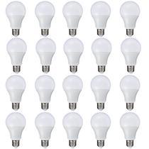 Kit 20 Peças - Lâmpada LED Bulbo 7W Branco Quente Rosca E27 Bivolt 90 Economia - Powerxl