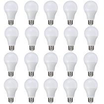 Kit 20 Peças - Lâmpada LED Bulbo 9W Branco Frio Rosca E27 Bivolt 90 Economia - Powerxl