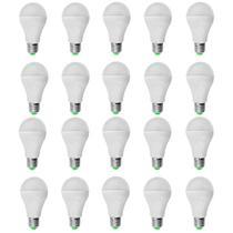 Kit 20 PeÇas - Lampada Led Bulbo PlÁstico 7w Bivolt Branco Frio 6500k - Powerxl