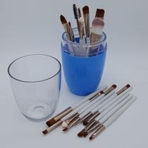 3cf1609914639 Kit 20 Pincéis de Maquiagem com Estojo Acrílico Vision Málaga - Fábrica de  Utilidades - Azul