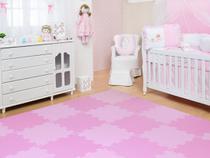 Kit 20 Placas Tatame Tapete Eva Infantil Fitness Bebe P/ Menina - Biatex