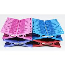 Kit 20 Prendedor Pregador Roupa Varal Embalagem Resistente Excelente Qualidade Roxo - Sekamais