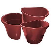 Kit 20 Vasos Plásticos Cor Telha Arandela Jardim Vertical - Utiliplas