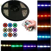 Kit 20m fita LED 5050 RGB: 4 rolos, fonte 10A, controlador e amplificadores - Gigaled Importado