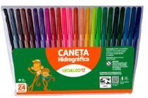 Kit 24 Caneta Hidrográfica Cores Canetinha Escola Escritório - Leo&Leo