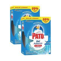 Kit 24 Refil Desodorizador Sanitário Pato Gel Adesivo Marine 38g -
