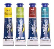 Kit 24 Tinta Acrílica Acrylic Colors Acrilex 20ml Para Tela -