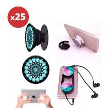 Kit 25 unidades Popsockets Pop Socket Suporte Celular + Kit Pop Clip - Bcs