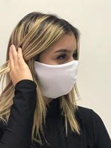 Kit 250 Máscaras Reutilizável Tecido Lavável Dupla Camada Branca - Deluzz