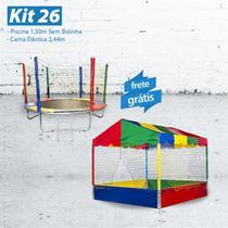 KIT 26 -  Piscina 1,50m  SEM BOLINHA + Cama Elástica 2,44m - Lacuca Brinquedos