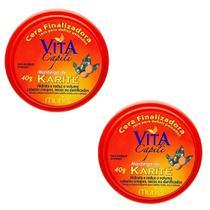 Kit 2un Cera Finalizadora Muriel Vita Capili Manteiga Karite -