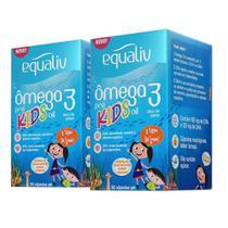 Kit 2un Equaliv Ômega 3 Kids 60 Cápsulas -