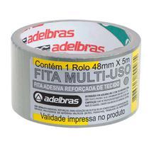KIT 2un Fita Adesiva Multiuso Silver Tape 48mmx5m Adelbras -