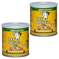 Kit 2un Ração Úmida Cães Pet Delicia Risotinho Frango 320g -