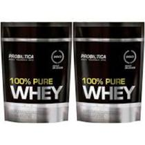 Kit 2x 100% Pure Whey Protein 825g Refil Probiotica - Probiótica