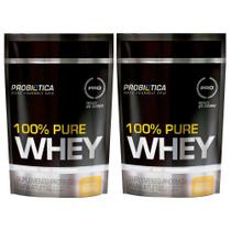 Kit 2x 100% Pure Whey Refil 825g (1,65Kg) - Probiótica -