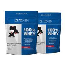 Kit 2x 100% Whey Protein Concentrado 900g - Max Titanium -