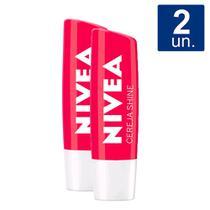 Kit 2X 4,8g Hidratante Labial Nivea Cereja Shine -