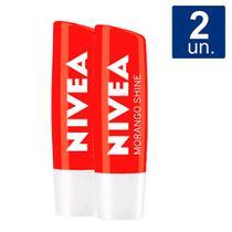 Kit 2X 4,8g Hidratante Labial Nivea Morango Shine -