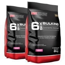 Kit 2x 6 Six Bulking 6kg Morango  Bodybuilders -