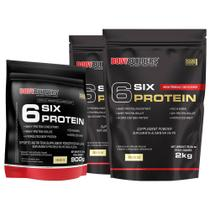 Kit 2x 6 Six Protein 2kg Baunilha + 1x 6 Six Protein 900g Baunilha  Bodybuilders -