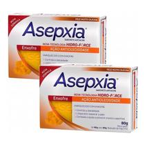 Kit 2x Asepxia Sabonete Antiacne Enxofre Antioleosidade 80g -