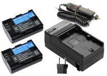 KIT 2X Baterias LP-E6 1800mAh + Carregador para câmera digital e filmadora Canon EOS Digital 5D Mark II, EOS 60D, EOS Digital 7D - Para Canon