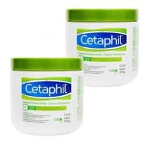 Kit 2x Cetaphil Creme Hidratante 453g Corporal Pele Seca Sensível -