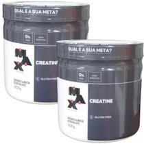 Kit 2x Creatina 300g Max Titanium Ganho De Massa Força Resistência -