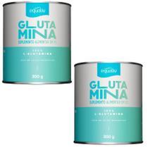 kit 2x Equaliv Glutamina Pó 100% L-glutamina 300g Aumento Imunidade -