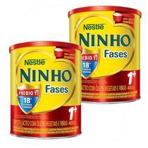 Kit 2x Fórmula Infantil Em Pó Nestlé Ninho Fases 1+ Em Lata De 400g -