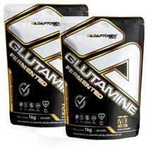 Kit 2x Glutamina Platinum Series 1kg Adaptogen Importada Imunidade -