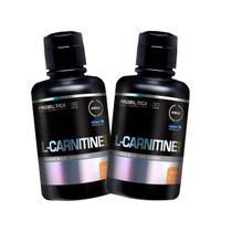 Kit 2x L-Carnitina 2000 Líquida 400ml - Pêssego - Probiótica -