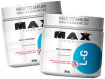 Kit 2x L-Glutamina 300g - Max Titanium -