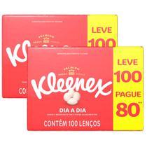Kit 2X Lenço de Papel Kleenex Leve 100 Pague 80 -