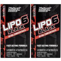 Kit 2x Lipo 6 Black 120 Caps - Nutrex -