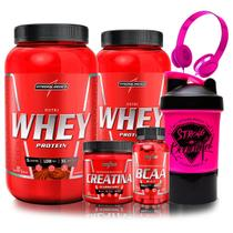 Kit 2x Nutri Whey 900g + BCAA + Creatina + Coq. - IntegralMedica