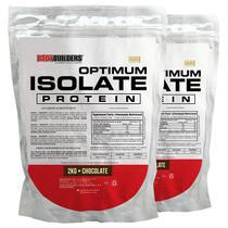 Kit 2x Optimum Isolate Whey Protein 2kg  Chocolate  -  Bodybuilders -