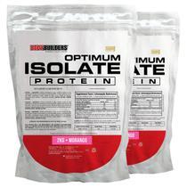 Kit 2x Optimum Isolate Whey Protein 2kg  Morango  -  Bodybuilders -