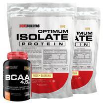 Kit 2x Optimum Isolate Whey Protein 900g  Baunilha  + Bcaa 100g - Bodybuilders -