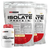 Kit 2x Optimum Isolate Whey Protein 900g  Baunilha +  Creatina 100g - Bodybuilders -