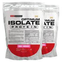 Kit 2x Optimum Isolate Whey Protein 900g  Morango - Bodybuilders -