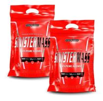 Kit 2x Sinister Mass 3kg Morango Hipercalórico Integralmédica Ganho Massa -