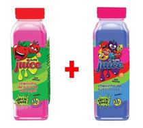 Kit 2x Slime Juice Suco Frutas 265g DTC Morango Tutti-Frutti - Clio Pets