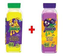 Kit 2x Slime Juice Suco Frutas cheirinho 265g DTC Uva Banana - Clio Pets