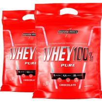 Kit 2x Super Whey 100% Pure 907g Refil IntegralMédica -