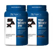 Kit 2x Top Whey 3W Mais Performance 900g Max Titanium -