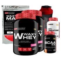 Kit 2x Waxy Whey 900g Mor + BCAA 100g+ Creatine 100g + Waxy Maize 800g + Coquet.  Bodybuilders -