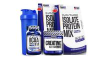 Kit 2x Whey 900g + Bcaa + Creatina - Profit + coq