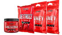 Kit 2x Whey 900g +  Creatina 150g + Dextrozz - Integralmedica